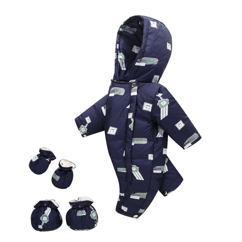 New Winter Warm Baby Infant Down jacket Clothes Set Kids Hooded Jacket With Scarf Children Boys Girls Coat pattern Suit Set 30#