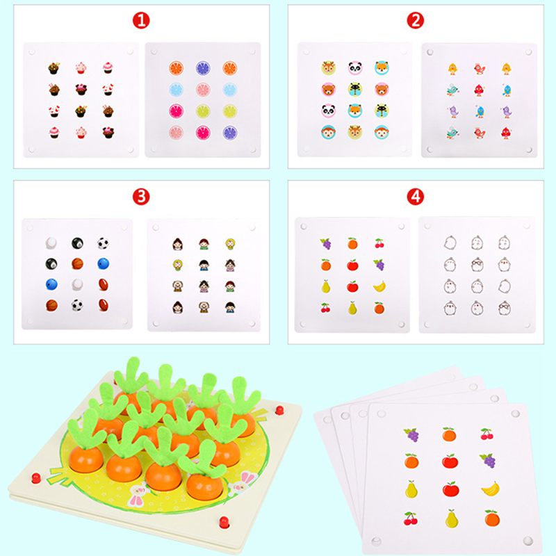 Children 39 S Radish Memory Chess Parent Child Interaction Table Games Intelligence Development Early Educational Training Toy in Tile Games from Toys amp Hobbies
