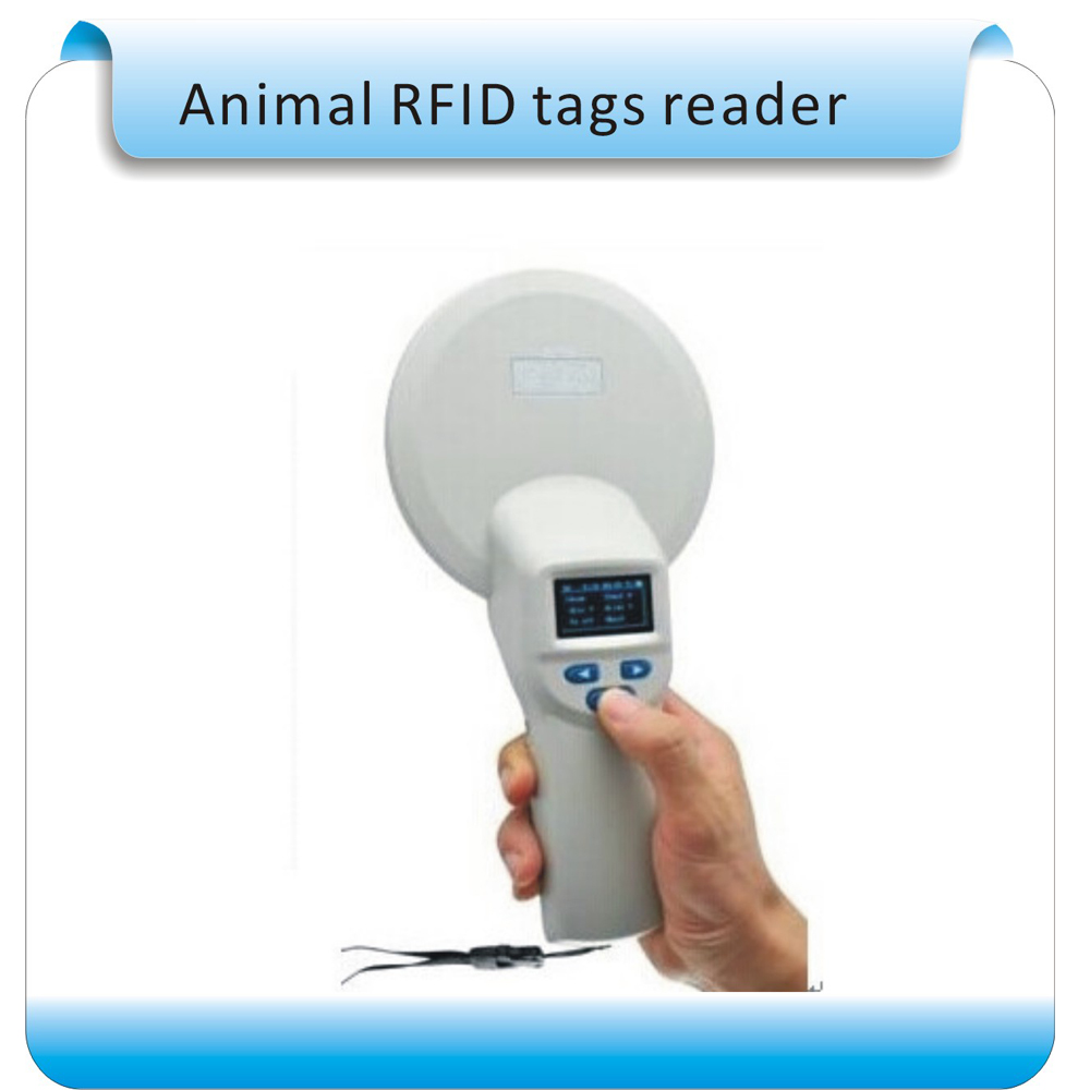Free shipping 134.2Khz ISO 11784/5 RFID animal  RFID reader for  data management/bluetooth communication+2pcs tags 1000pcs long range rfid plastic seal tag alien h3 used for waste bin management and gas jar management