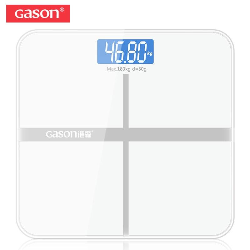 GASON Bariátrica A1 Chão Do Banheiro Escala Corpo Eletrônico do Agregado Familiar Inteligente Digital Display LCD Valor Divisão 180 KG/50G