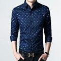2016 новое прибытие мужская рубашка с длинными рукавами slim fit 100% хлопок бизнес случайные shrits men dress shirt большего размера
