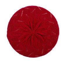 Boinas de las mujeres 2018 nueva Otoño de punto acrílico boina Hat para  mujer Womans artista francés rojo boinas para mujer GS11. 28fdf8196c7