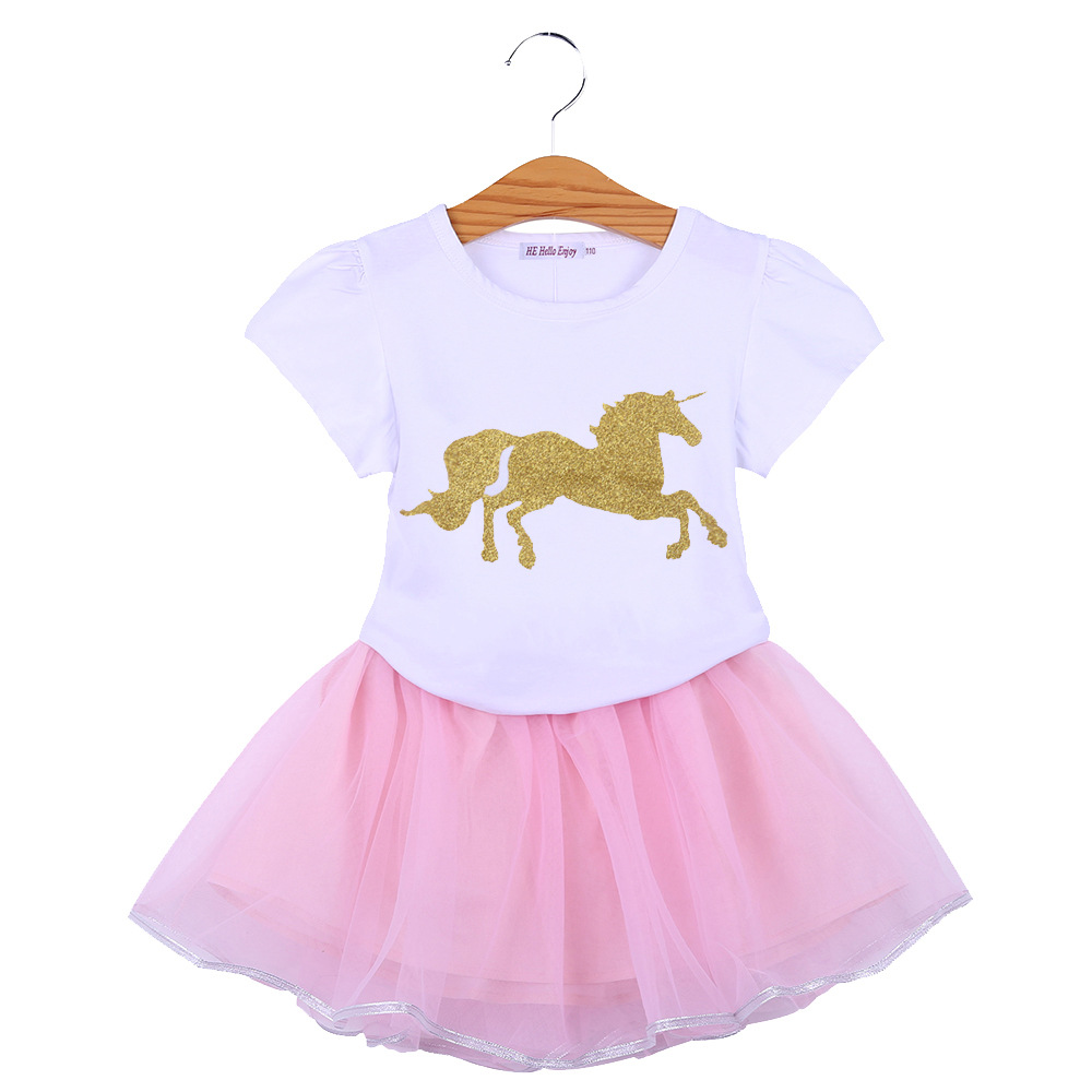 2019 Child Ladies Clothes Units Summer season Youngsters Youngsters Print Unicorn T-shirt+Tutu Skirts fits Toddler Ladies Garments Outfits Clothes Units, Low-cost Clothes Units, 2019 Child Ladies Clothes Units Summer...