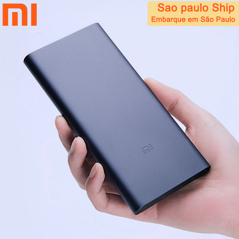 Batterie externe de xiaomi 10000 mah noir USB double-voie charge rapide powerbank Portable mini batterie de déménagement pour accessoires de téléphone