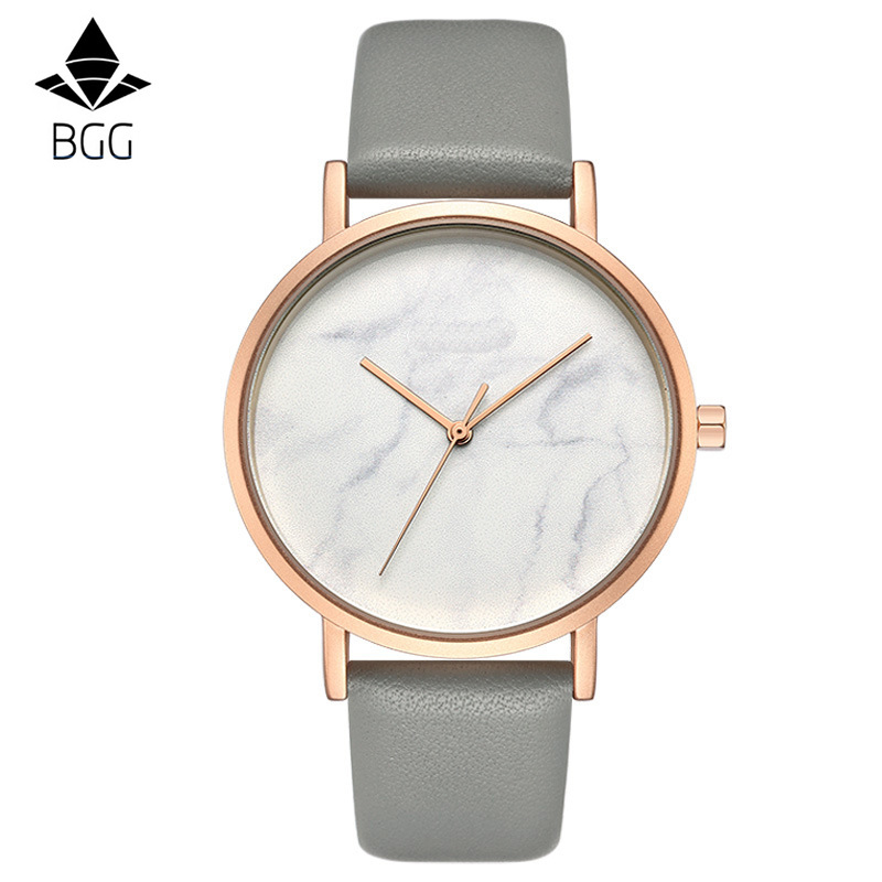 Fashion Luxury Brand Minimalist Style Marble Watch leather Strap Simple Women Dress Watches Woman Quartz Clock Hot Sale Relojes 2017 men xinge brand business simple quartz watches luxury casual leather strap clock dress male vintage style watch xg1087