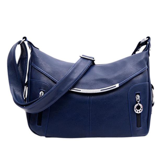 2017 mujeres bolsas de mensajero bolso bolsas Dumpling pu bolso de cuero Crossbody Bolsas bolso femenino paquete mamá H518