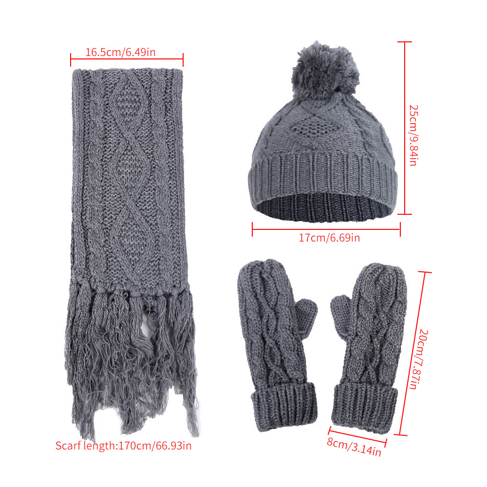 Handmade Knitted Toddler Hat And Scarf Sets, 100% Acrylic Baby Accessories