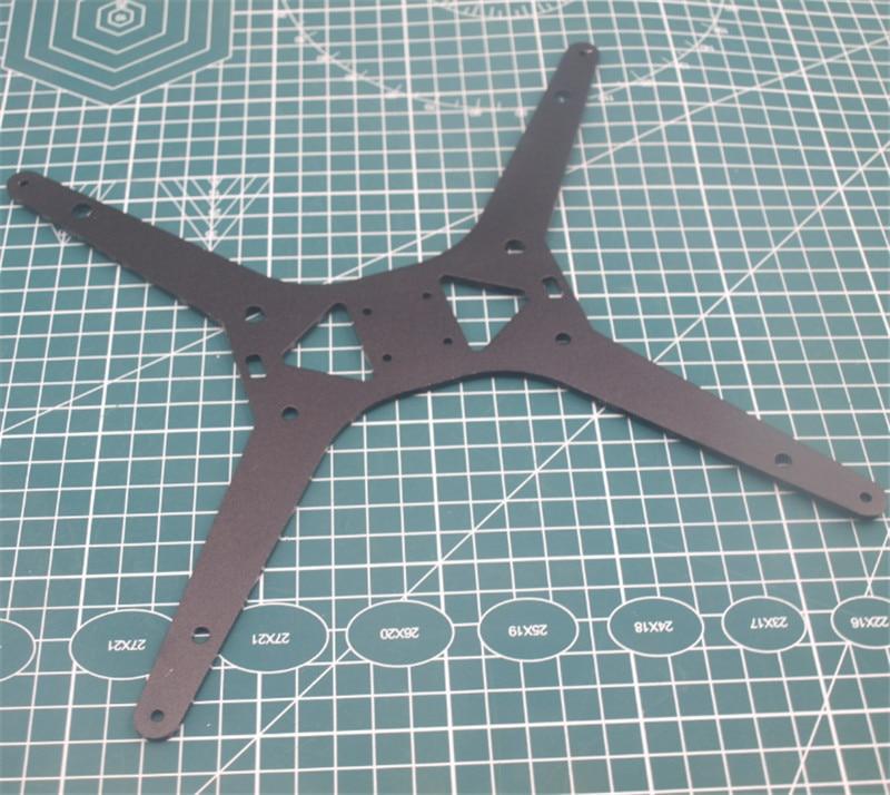 1pcs Tarantula/HE3D Upgrade Black Anodized Aluminum Y Carriage Plate For TEVO Tarantula 3D Printer Heated Bed Support Plate