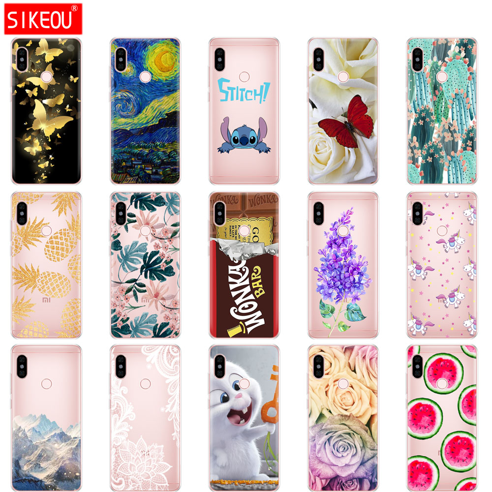 buy online 98791 d117b Silicone Case For Xiaomi Redmi Note 5 Pro Soft Tpu Back Cover Cases For  Xiaomi Redmi Note 5 Global Version Cute Protective Coque