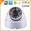 Hd 1280 * 720 P 1.0MP domo para interiores cámara IP de vigilancia de seguridad CCTV ONVIF 2.0 IP del P2P Cam filtro de corte IR megapíxeles lente 48LED