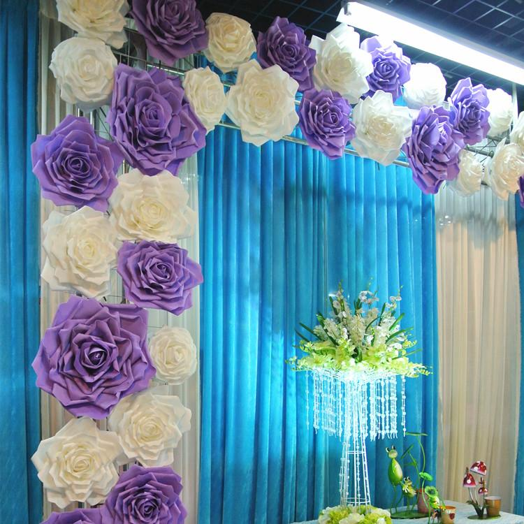 2017 New Por Artificial Rose Flower Diy Craft Ornament For Wedding Party Backdrop Centerpiece Decoration Supplies 4 Size In Dried Flowers