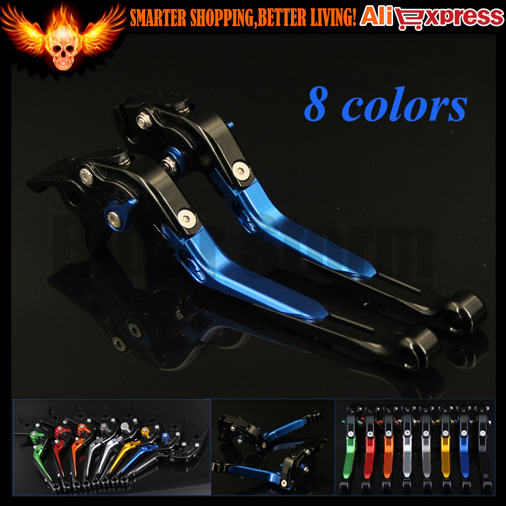 8 Colors CNC Adjustable Folding Extendable Motorcycle Brake Clutch Levers For Yamaha YZF R1 2009 2010 2011 2012 2013 2014 cnc folding extendable brake clutch levers for yamaha yzf r1 2009 2010 2011 2012 2013 2014