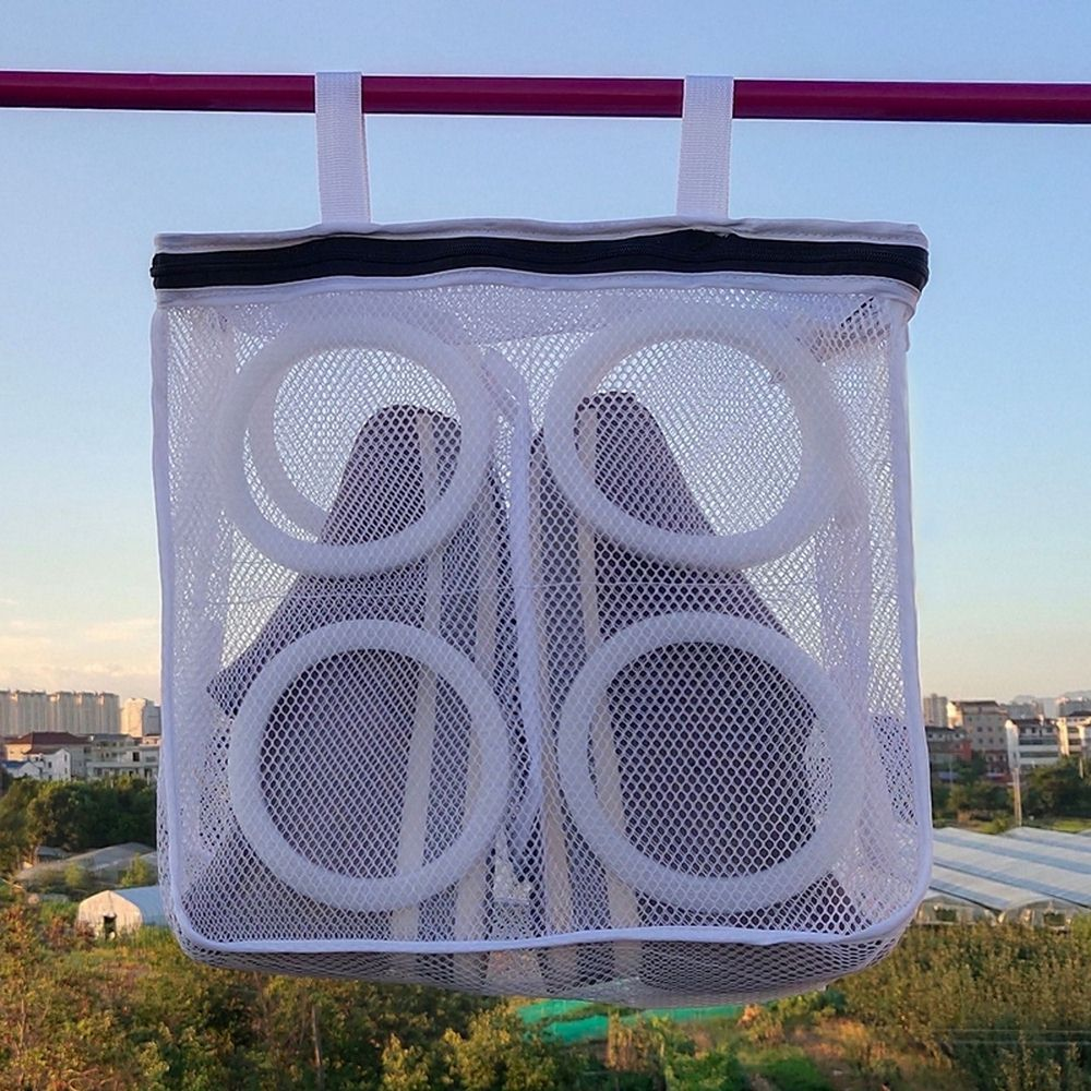 Laundry Bags Hanging Dry Sneaker Mesh Shoes Protect Wash Machine Home Storage Organizer Accessories Protective Clothing Product