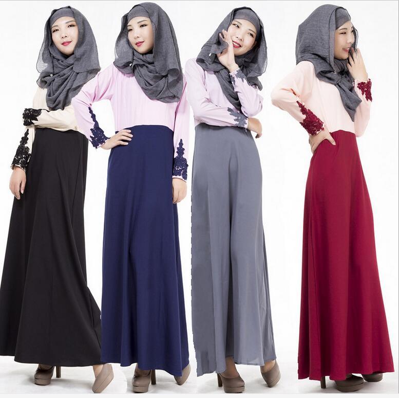 2016 Muslim abaya dress for women Islamic dresses dubai Islamic clothing Muslim kaftan abaya Dress turkish jilbab hijab