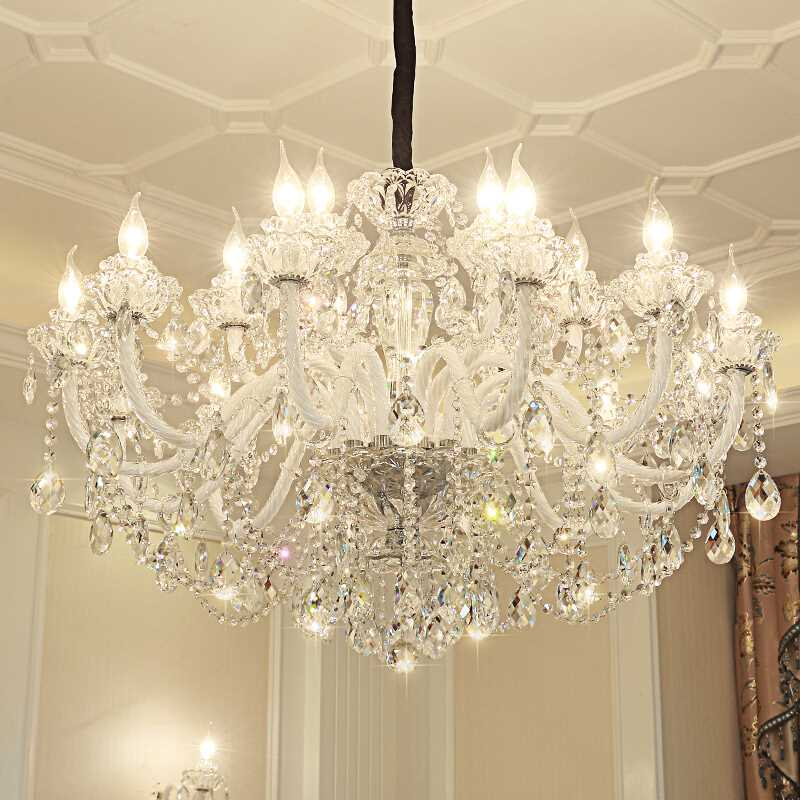 Modern LED Ceiling Chandelier Lamp Living room Bedroom Hotel luxury K9 Crystal Indoor home ceiling lampe suspension