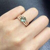 Anillos QI xuan_trendy jewelry_tourmaline камень элегантные женские rings_rose золото Цвет модные rings_manufacturer непосредственно продаж
