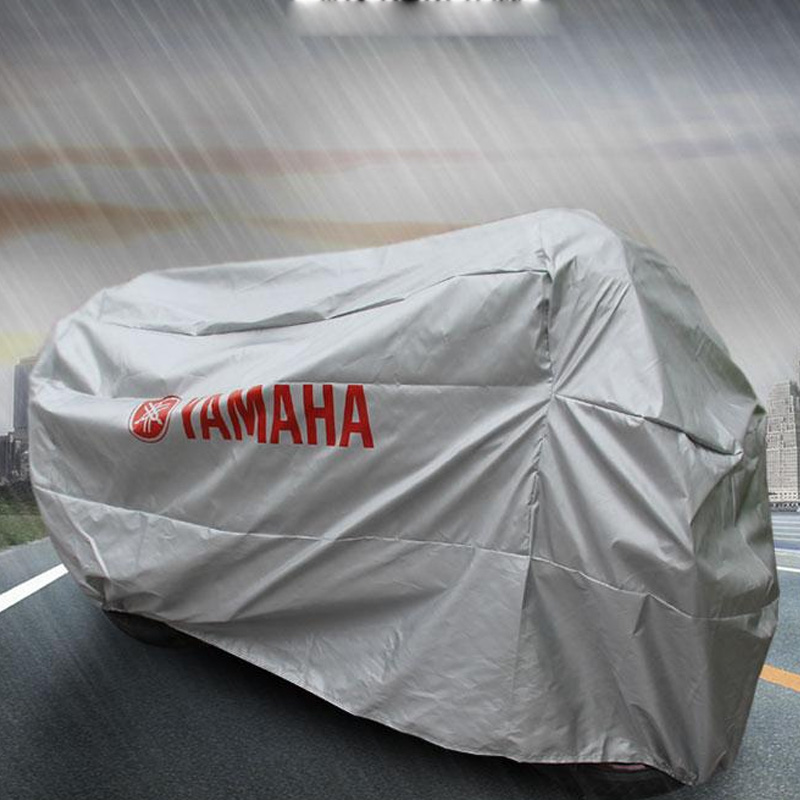 New Motorcycle Cover 4 Size Water Proof Motorcycle all Sliver with Logo 210t Material Motocycle for yamaha with logo sliver