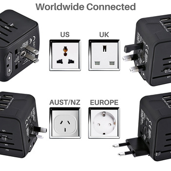 LONGET Universal Travel Adapter All-in-one 4 USB Port 1