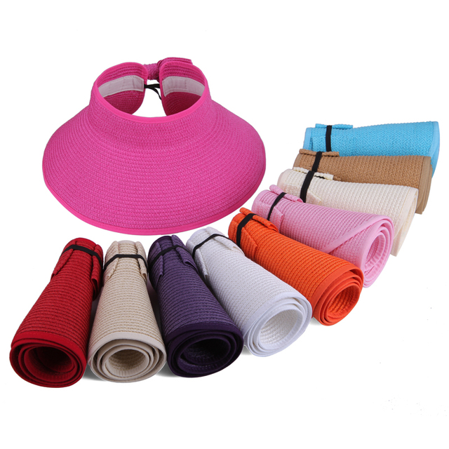 2018 The Hot sale Beach cap sunbonnet visor straw hat female summer sunscreen folding big sun hat for girl hat