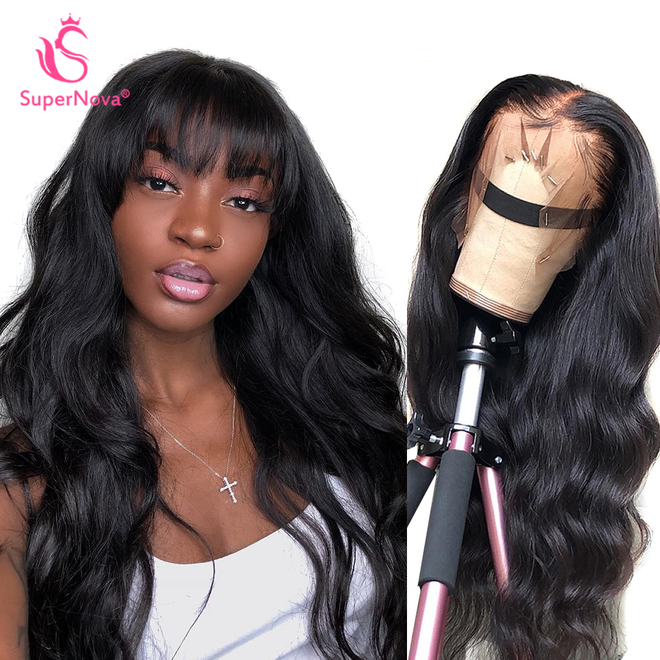 13*4 Lace Front Human Hair Wigs Supernova Remy Brazilian Body Wave Lace Wigs For Women Pre Plucked 150% 180% 250% Density