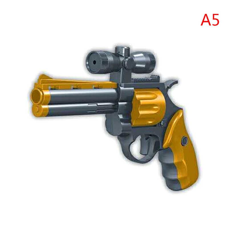 43 قطعة من البلاستيك لتقوم بها بنفسك ألعاب مكعبات البناء سلاح الصحراء النسر وبريتا مسدس مع رصاصة مسدس نموذج للأولاد الأطفال