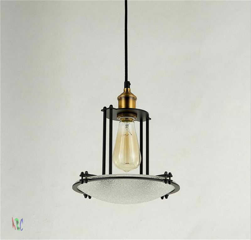 Light bulb pendant light copper glass restaurant pendant light single pendant light vintage retro abajur american style 2017 new