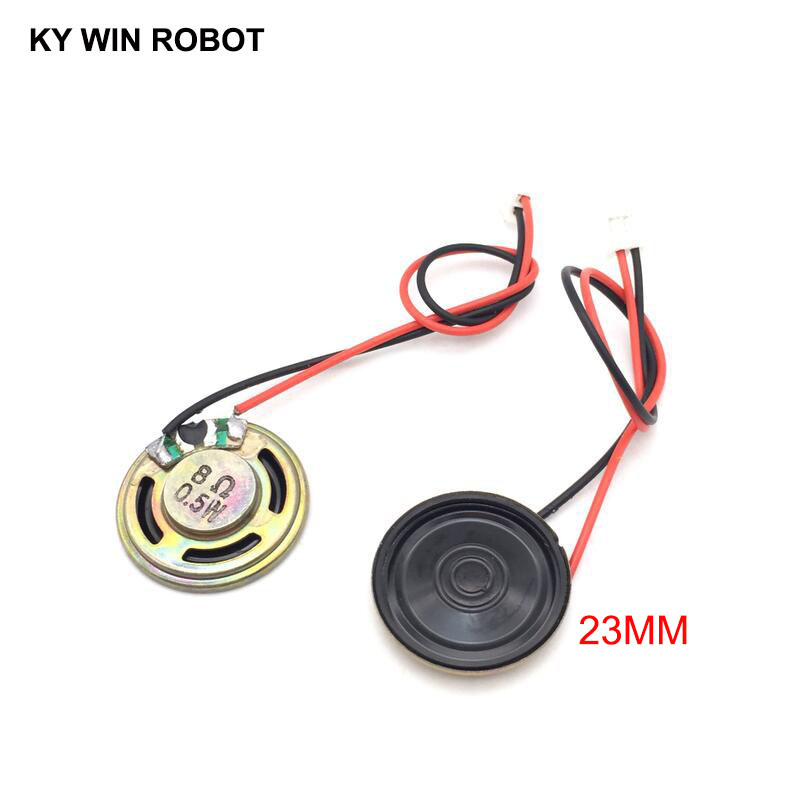 2pcs New Ultra-thin Speaker 8 Ohms 0.5 Watt 0.5W 8R Speaker Diameter 23MM 2.3CM Thickness 5MM With PH2.0 Terminal Wire Length 10