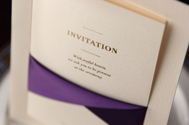 100pcs Lot Wedding Invitation Cards With Purple Ribbon Free Printable Printing Laser Cut Invitations Cw2042 In From Home