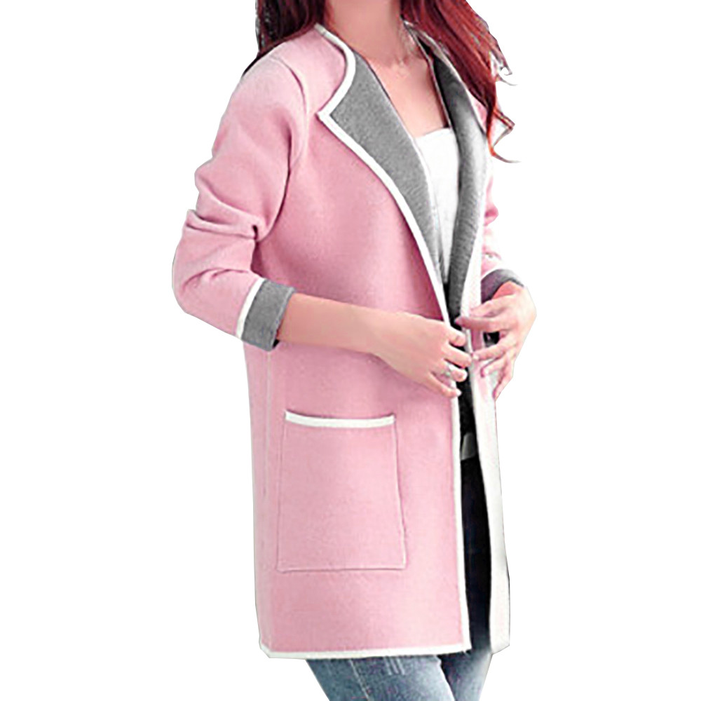 2017 Womens   Trench   Autumn Winter Women Brand Clothing Pocket Coats New Style For Women Two sides Can Wear   Trenches   se223