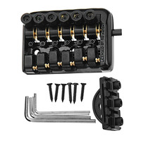 6 String Saddle Headless Guitar Bridge Tailpiece With Worm involved string device Guitar Replacement Part Accessories