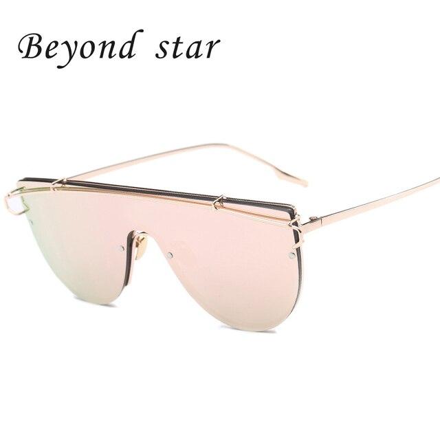 Beyond Star 2016 Newest Oversized Metal Frame Women Sunglasses Korea Brand Designer Big Sports Men Sun Glasses Shades Oculos