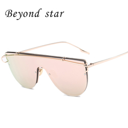 Beyond star 2016 newest font b oversized b font metal frame women sunglasses korea brand designer.jpg 250x250