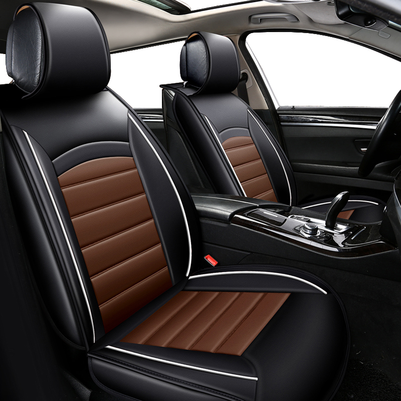 KOKOLOLEE PU leather Car Seat Cover for sandero ssangyong kyron polo sedan camry 50 car seats
