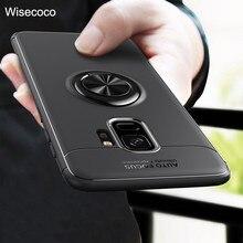 Için Samsung Galaxy S8 S9 S10 Artı Kılıf Lüks Araç Tutucu Standı Manyetik Braketi Yüzük Kapak için Samsung Not 8 9 J5 J7 Pro 201...