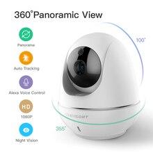 1080p ענן IP אלחוטי מצלמה אינטליגנטי אוטומטי מעקב של אדם אבטחת בית מעקבים טלוויזיה במעגל סגור רשת Wifi מצלמה