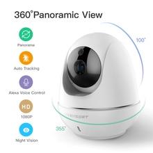 1080p облачная Беспроводная ip камера, интеллектуальная автоматическая камера слежения за человеком, Домашняя безопасность, видеонаблюдение, CCTV, сетевая камера с wifi