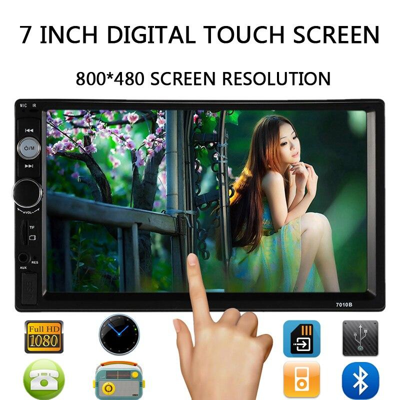 ФОТО Car MP5 Player 7'' HD Touch Screen Bluetooth Phone Stereo Radio FM/1080P/MP4/MP3/Audio/Video USB Auto Electronics In Dash 2 Din