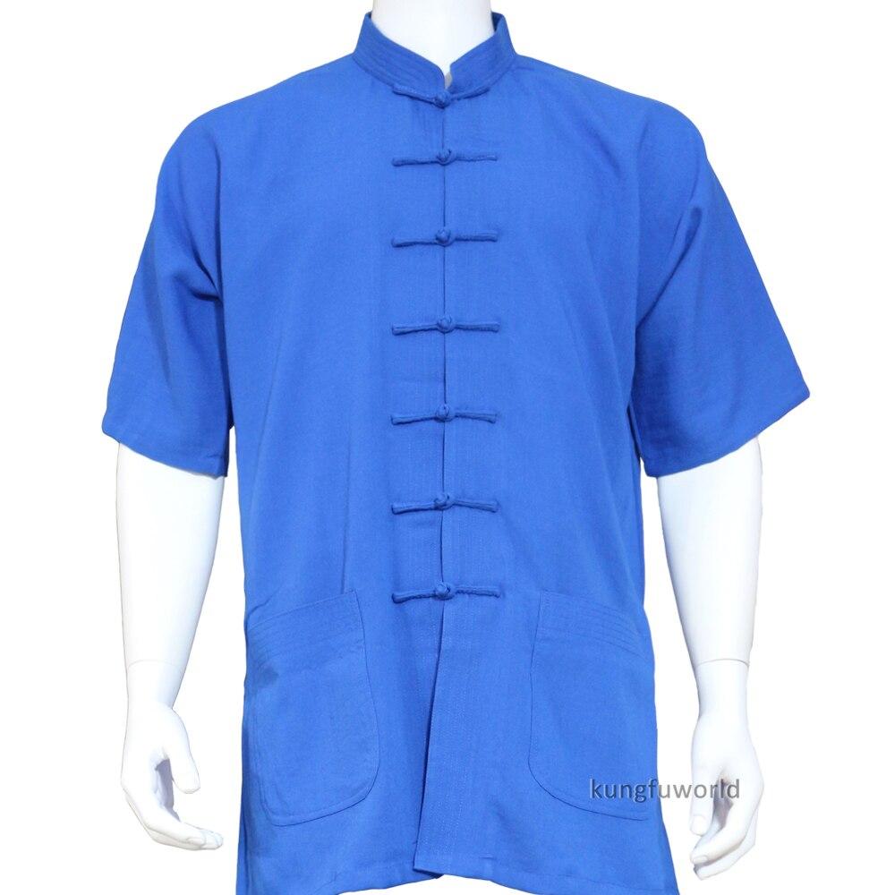 25 couleurs lin chinois Kung fu Tai chi veste arts martiaux aile Chun chemises Wushu vêtements