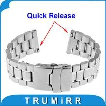 22mm Libération Rapide Bande de Montre Bracelet Sangle pour Pebble Temps/Acier Asus Zenwatch 1 2 22mm LG G Watch W100 R W110 Urbain W150