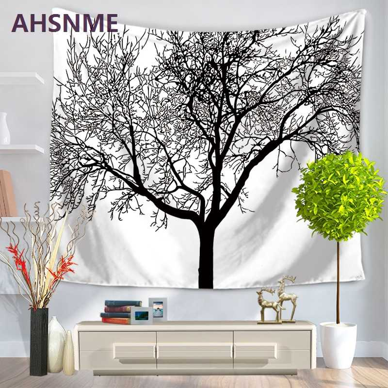 AHSNME Art Oil painting home decor tapestry life tree forest tapestry beach towel home textiles blanket 150x200cm/150x130