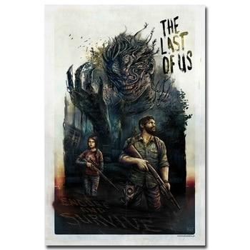 Шелковый плакат гобелен игра Последний из нас вариант 3