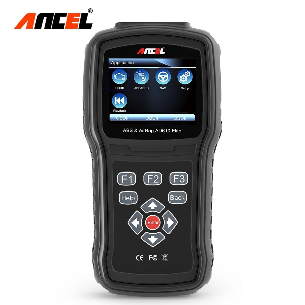 Ансель AD610 Pro OBD2 сканер ABS SAS подушка безопасности диагностический инструмент Сброс данных краш ODB сканер нескольких языков OBD автомобиля диа...