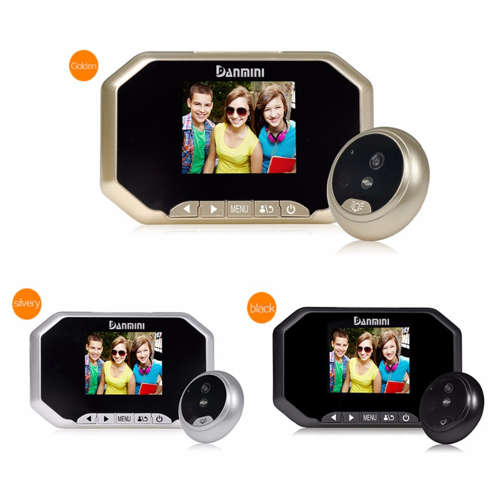 Danmini 3.0 inch TFT LCD Screen Digital Door Peephole Viewer 2.0MP Camera Night Vision Wide Angle Video Intercom bell Security original danmini 3 0 tft lcd color screen door peephole viewer ir led night vision light doorbell 145 degrees view angle system