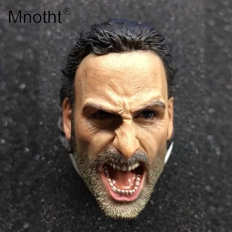 Mnotht Soldier Head Sculpt 1/6 Scale Screaming Rick Head Carving Model Toys For 12in Action Figures Hobbies Collections m3 1 6 scale american president john fitzgerald kennedy head sculpt for 12 inches mens bodies dolls figures toys gifts collections