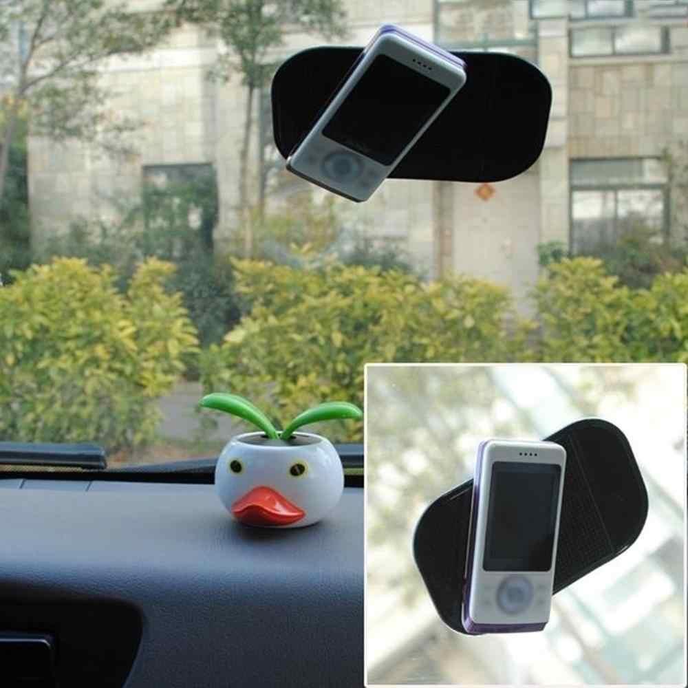 Preto/branco antiderrapante carro traço pegajoso gel almofada antiderrapante universal suporte de montagem esteira lavável silicone gel almofada acessórios do carro quente
