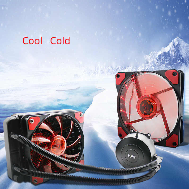 Liquid fan Aluminum fin cpu water cooling radiator pump copper heatsink tube block PC Fan controller processor i5 cold AM3+ AM4