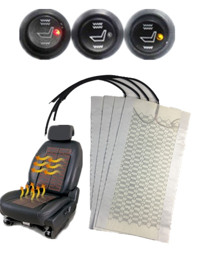 2 seats installed car seat heater universal round switch carbon fiber heated pads seat warmer 12 cars Seat heating Quickly send-in Automobiles Seat Covers from Automobiles & Motorcycles    1