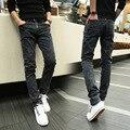 Jeans da moda Para Os Homens Slim Fit Calças Lápis Cinza de Corpo Inteiro do Sexo Masculino Calças Masculinas 2016 Homens Casuais Roupas AMP165004