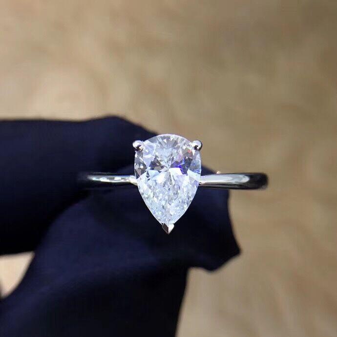 High-end 1:1 Fashion 18K Gold Diamond Ring Custom