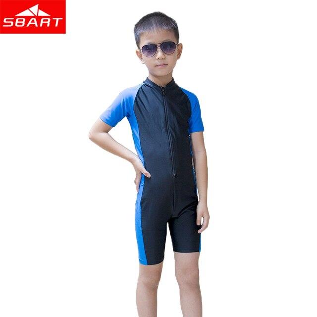 18abb1c1e3 SBART Short Sleeve Children Wetsuit Kids Lycra Shorty Wet Suit For Boys  Girls Swim Scuba Diving